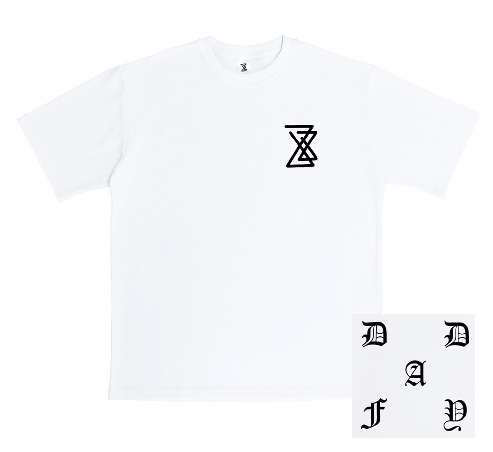 (SOLD OUT) DAYDAF LOGO 2/1 T-SHIRT (WHITE)
